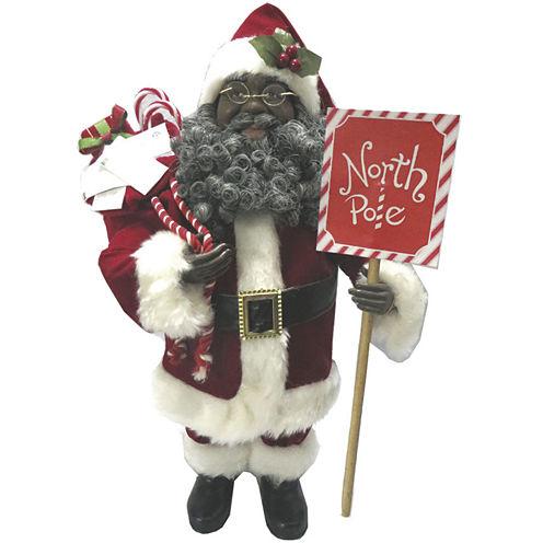 "Santa's Workshop 15"" North Pole African American Santa"