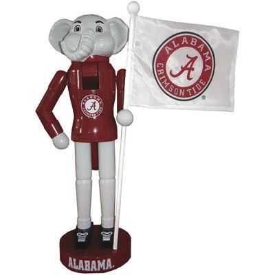 "Santa's Workshop 12"" Alabama Mascot and Flag Nutcracker"