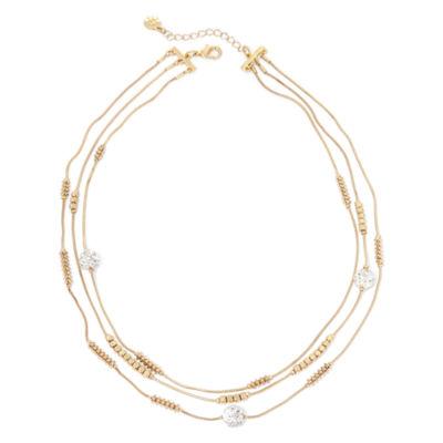 Monet® Multi-Strand Gold-Tone Necklace