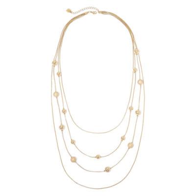 Monet® Multi-Strand Gold-Tone Ball Illusion Necklace