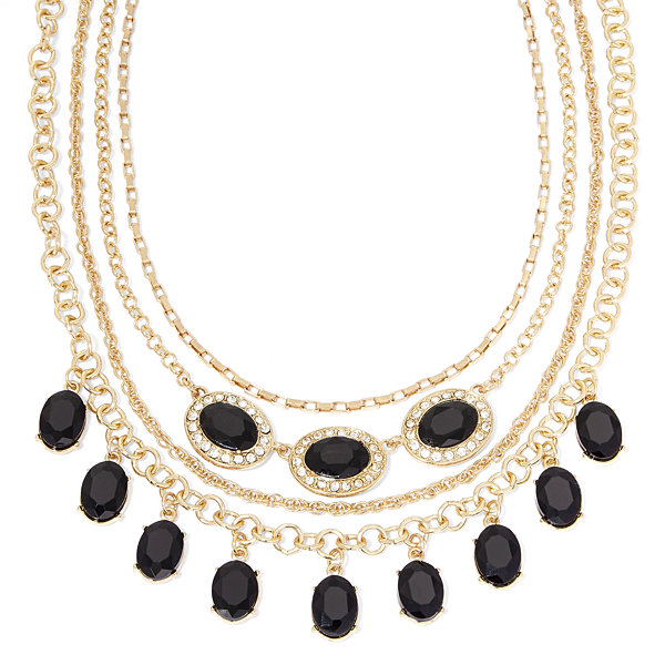 Monet® Black and Clear Crystal Layered Necklace