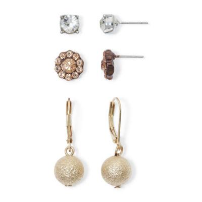 Monet® 3-pr. Earring Set