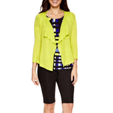 jcpenney.com | Worthington® Flyaway Cardigan, Essential T-Shirt or Bermuda Shorts - Petite