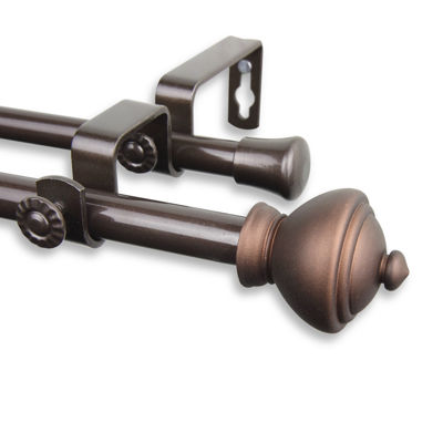 "Rod Desyne Savannah ⅝"" Adjustable Double Curtain Rod"