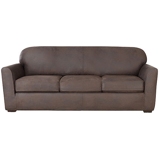 SURE FIT® Ultimate Stretch Faux-Leather 4-pc. Sofa Slipcover - JCPenney