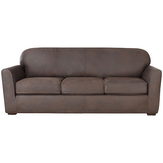 SURE FIT® Ultimate Stretch Faux-Leather 4-pc. Sofa Slipcover