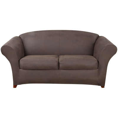 SURE FIT® Ultimate Stretch Faux-Leather 3-pc. Loveseat Slipcover