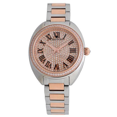 Croton Womens Two Tone Bracelet Watch-Cn207564ttrg