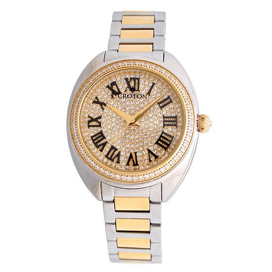 Croton Womens Two Tone Bracelet Watch-Cn207564ttyl