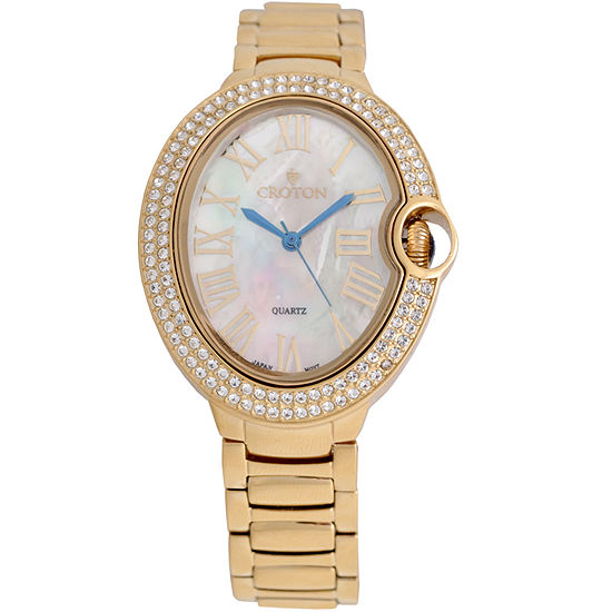 Croton Womens Gold Tone Bracelet Watch-Cn207566ylmp