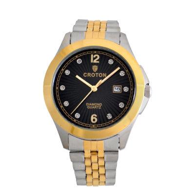 Croton Mens Two Tone Bracelet Watch-Cn307562ttbd