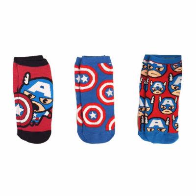 3-pc. Captain America Low Cut Socks - Womens