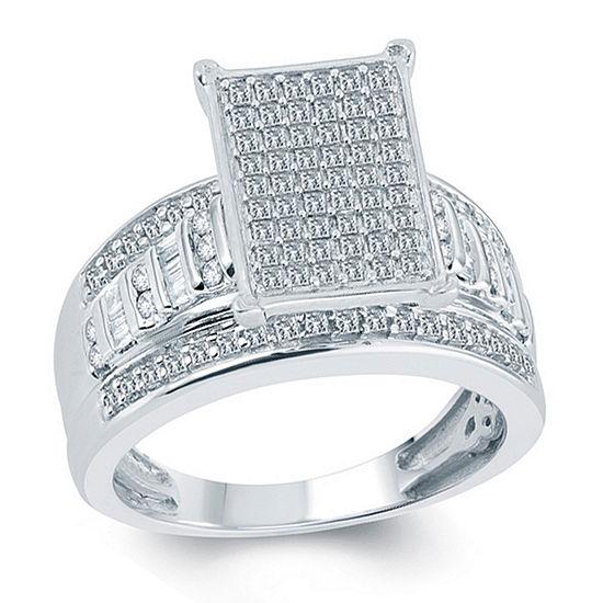 Womens 1 Ct Tw Genuine White Diamond 10k Gold Bridal Set
