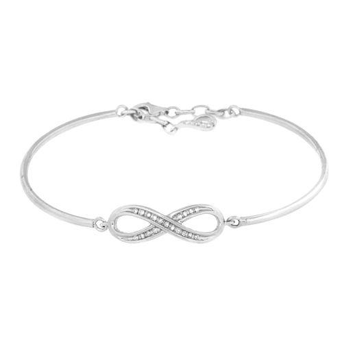 1/8 CT. T.W. White Diamond Bangle Bracelet