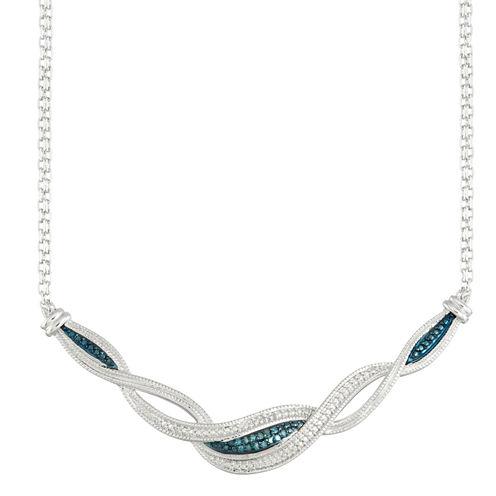 1/10 CT. T.W. Blue Diamond Collar Necklace