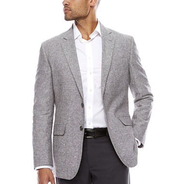 Stafford Linen Cotton Grey Sport Coat Classic Fit