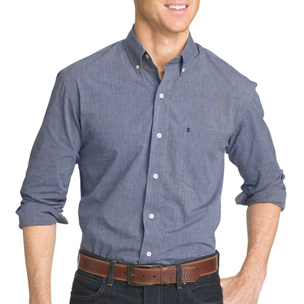 izod premium essentials slim fit long sleeve button down