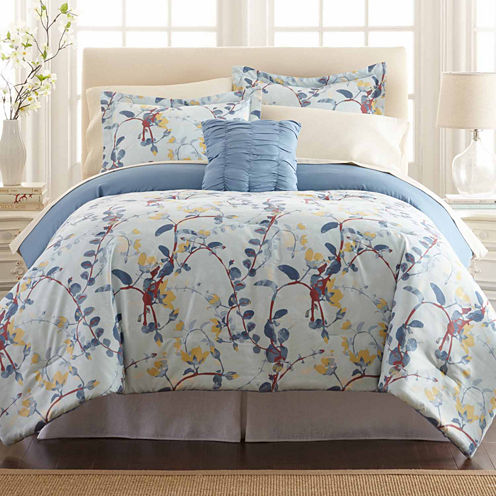 Pacific Coast Textiles Lucia Reversible 8-pc Reversible Comforter Set
