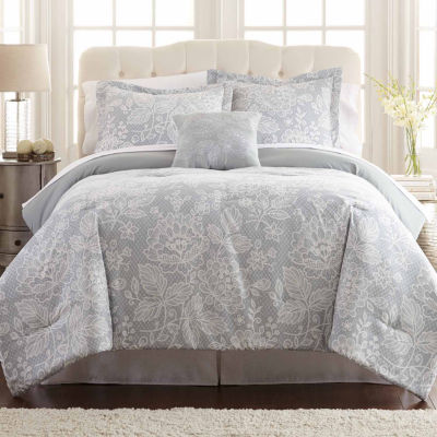 Pacific Coast Textiles Olivia Reversible 8-pc Reversible Comforter Set