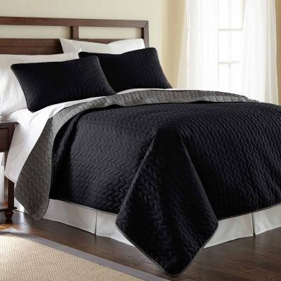 Pacific Coast Textiles 3-pc. Reversible Coverlet Set