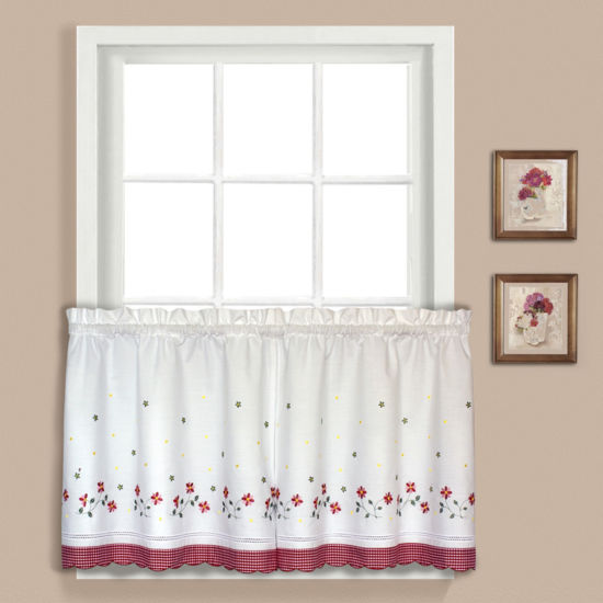 United Curtain Co. Gingham Rod-Pocket Window Tiers