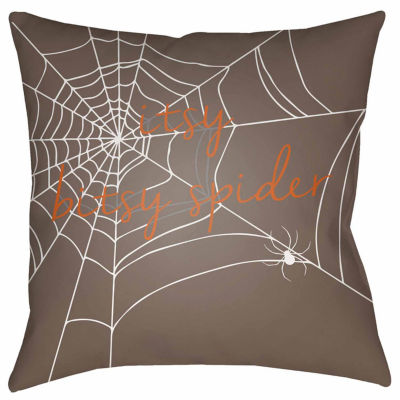 Decor 140 Itsy Bitsy Spider Square Throw Pillow