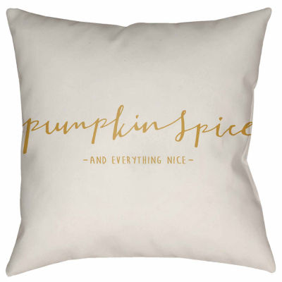 Decor 140 Pumpkin Spice Square Throw Pillow
