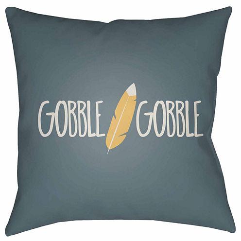 Decor 140 Gobble Gobble Square Throw Pillow