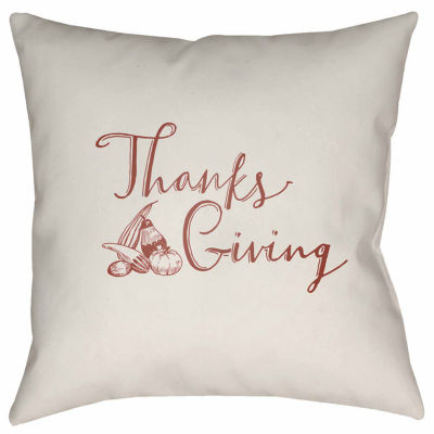 Decor 140 Thanksgiving Gourd Square Throw Pillow