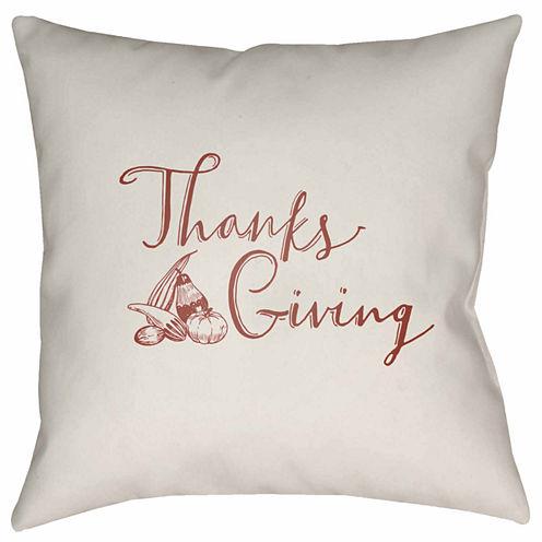 Decor 140 Thanksgiving Gourd Square Throw Pillow