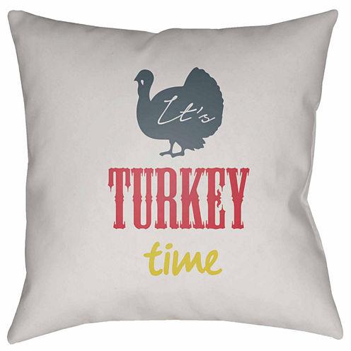 Decor 140 It'S Turkey Time Square Throw Pillow