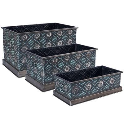 Household Essentials Metal 3-pc. Storage Bin