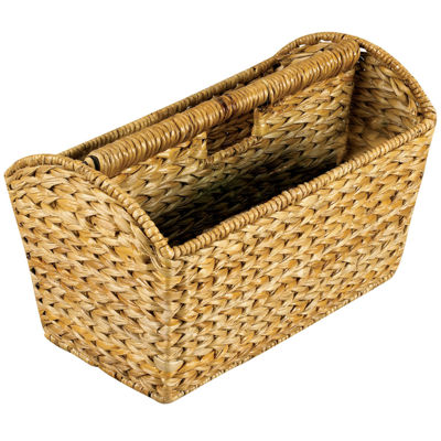 Household Essentials Water Hyacinth Magazine Rack