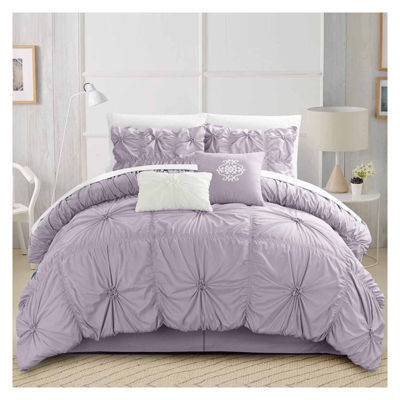 Chic Home Halpert 6-pc. Midweight Embroidered Comforter Set