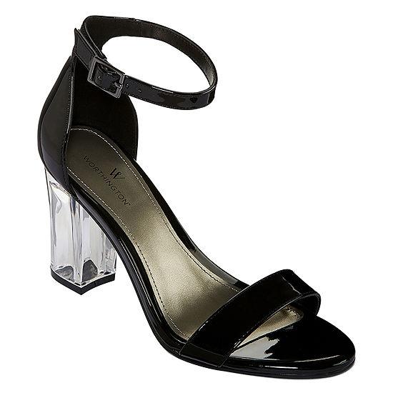 77347d955b23 Worthington Womens Bellevue Pumps Buckle Open Toe Stiletto Heel