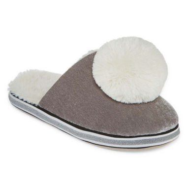 PJ Couture Velvet Slip-On Slippers
