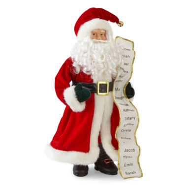 "North Pole Trading Co. Christmas Cheer 18"" Traditional Santa With List"