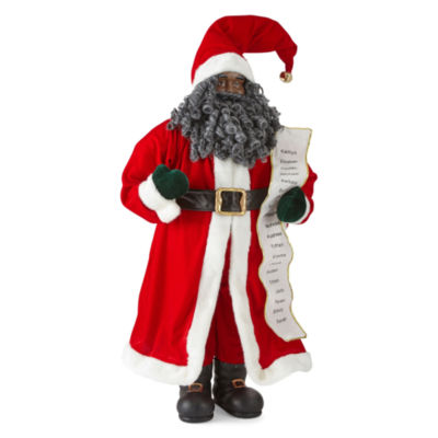 "North Pole Trading Co. Christmas Cheer 36"" Traditional Santa With List"