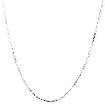 Silver Treasures 16 Inch Box Chain Necklace