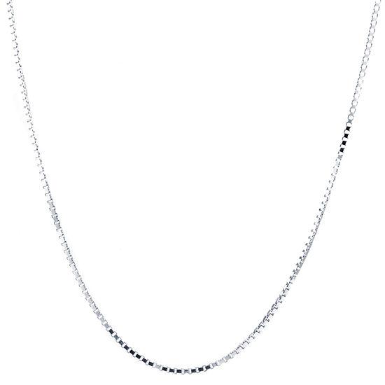 Silver Treasures 16 Inch Box Chain Necklace