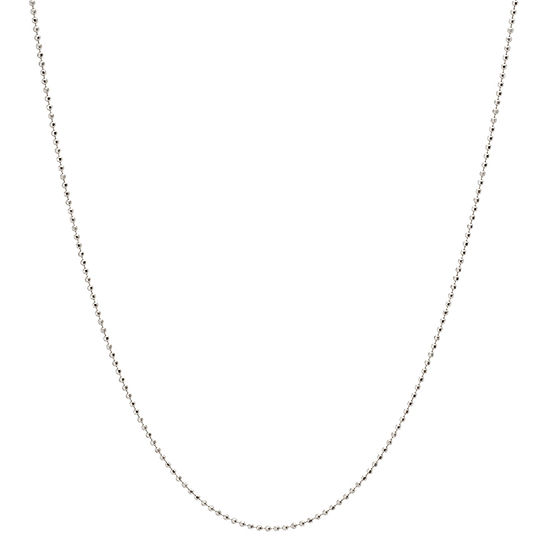 Silver Treasures 18 Inch Diamond Cut Shot Bead Chain Necklace