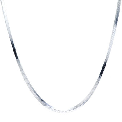 Silver Treasures 18 Inch Square Snake Chain Necklace