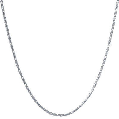 Silver Treasures 18 Inch Diamond Cut Rope Chain Necklace