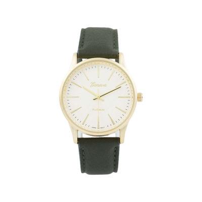 Geneva Platinum Womens Green Strap Watch-15031