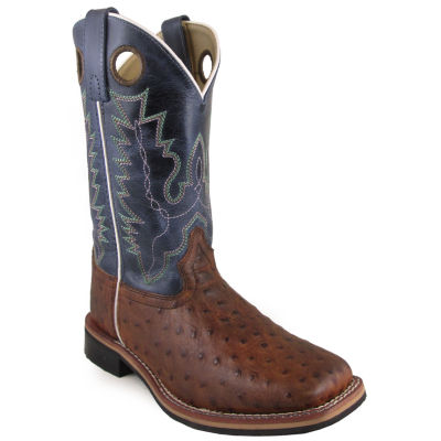 """Smoky Mountain Women's Cheyenne 10"""" Crackle Leather Cowboy Boot"""