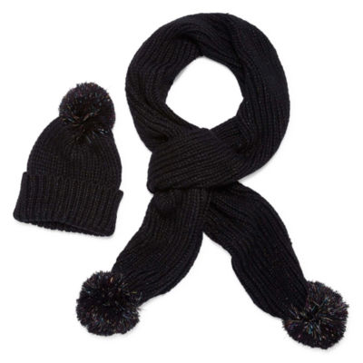Mixit Pom Beanie And Scarf 2-pc. Knit Cold Weather Set