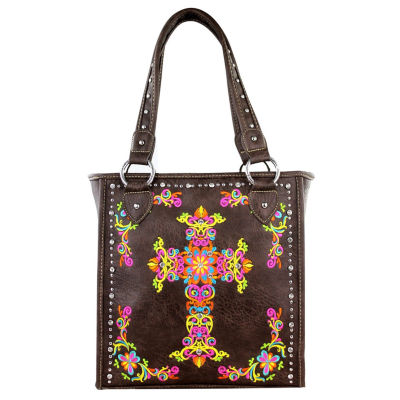 Montana West Ellie Embroidered Crosss Tote Bag
