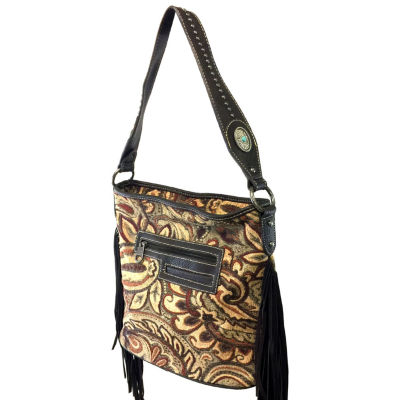 Montana West Jade Multi Color Fabric Tote Bag