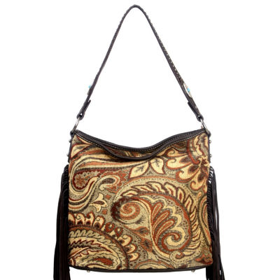 Montana West Jade Multi Color Fabric Tote Bag