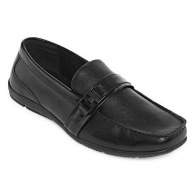 JF J.Ferrar Mens Closed Toe Slip-on Oxford Shoes